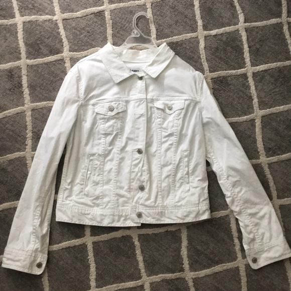 Old Navy Jackets & Blazers - White jean jacket